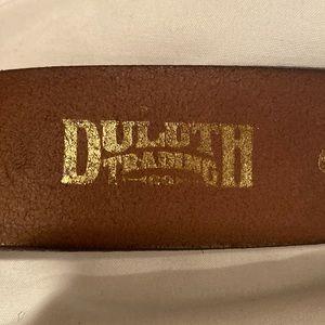 Duluth Brown Leather Men's belt
